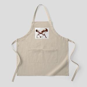 Chestnut Overo Horse BBQ Apron