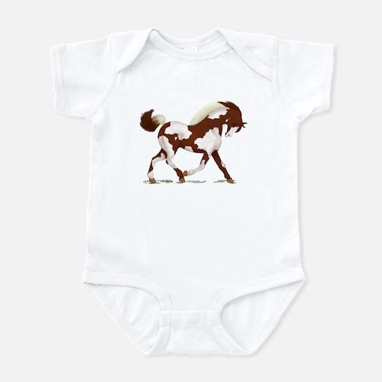 Chestnut Overo Horse Infant Bodysuit