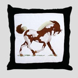 Chestnut Overo Horse Throw Pillow