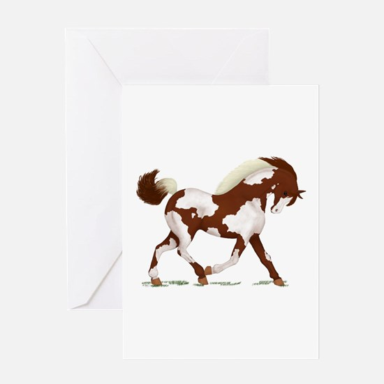 Chestnut Overo Horse Greeting Card