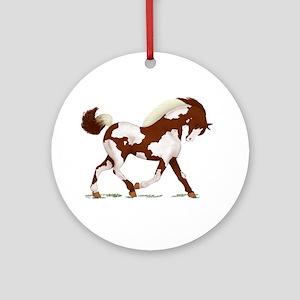 Chestnut Overo Horse Ornament (Round)