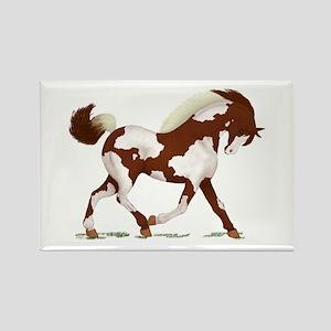 Chestnut Overo Horse Rectangle Magnet