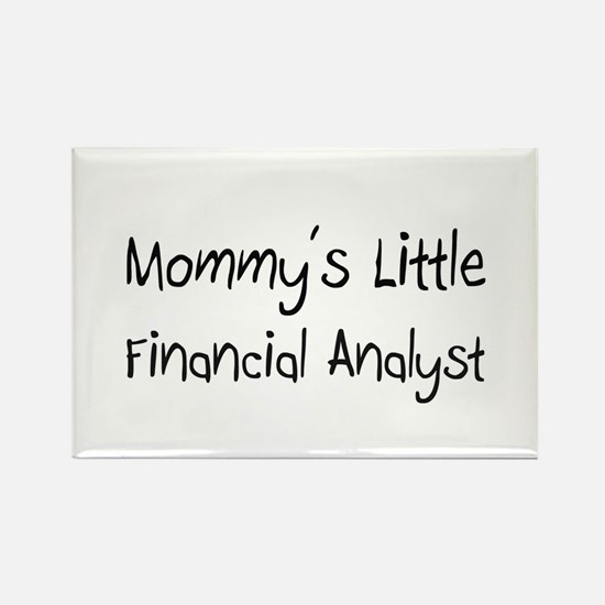Mommy's Little Financial Analyst Rectangle Magnet