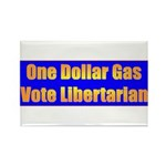 1 Dollar Gas Rectangle Magnet (10 pack)