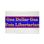 One Dollar Gas Rectangle Magnet