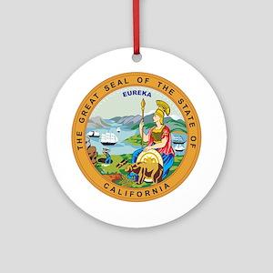 CALIFORNIA-SEAL Ornament (Round)
