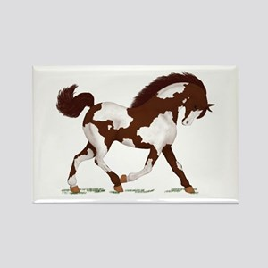Brown Overo Pinto Horse Rectangle Magnet