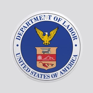 DEPARTMENT-OF-LABOR-SEAL Ornament (Round)