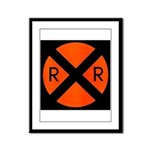 RR Crossing Sign Framed Panel Print