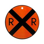 RR Crossing Sign Keepsake (Round)