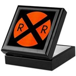 RR Crossing Sign Keepsake Box