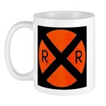 RR Crossing Sign Mug