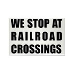 RR Crossing Sign Rectangle Magnet