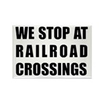 RR Crossing Sign Rectangle Magnet (10 pack)