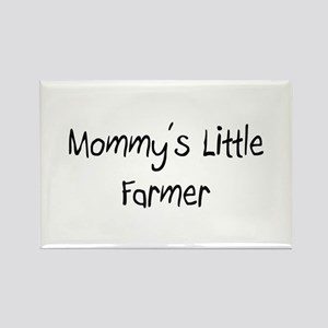 Mommy's Little Farmer Rectangle Magnet