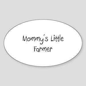 Mommy's Little Farmer Oval Sticker