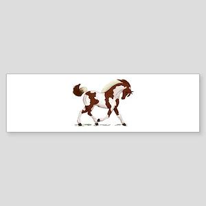 Chestnut Tobiano Horse Bumper Sticker