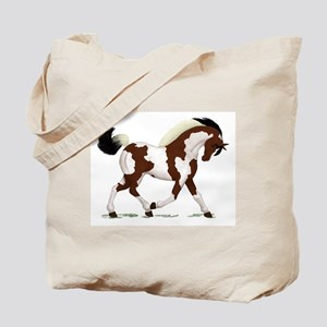 Bay Tobiano Pinto Horse Tote Bag