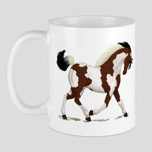 Bay Tobiano Pinto Horse Mug