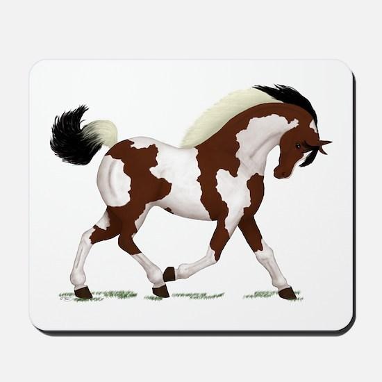 Bay Tobiano Pinto Horse Mousepad