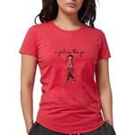 A Girl On The Go Women's Style Fitted Tee T-Sh