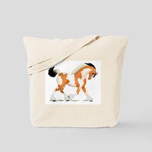 Buckskin Tobiano Gypsy Horse Tote Bag