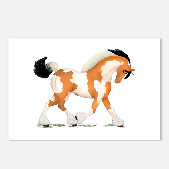 Buckskin Tobiano Gypsy Horse Postcards (Package of