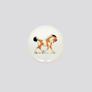 Buckskin Tobiano Gypsy Horse Mini Button