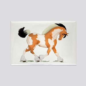 Buckskin Tobiano Gypsy Horse Rectangle Magnet
