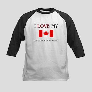 I Love My Canadian Boyfriend Kids Baseball Jersey