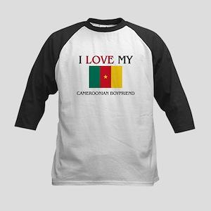 I Love My Cameroonian Boyfriend Kids Baseball Jers