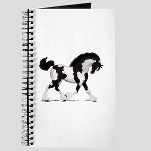 Black Tobiano Gypsy Horse Journal