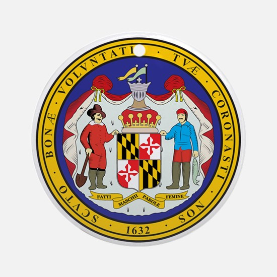 MARYLAND-SEAL Ornament (Round)