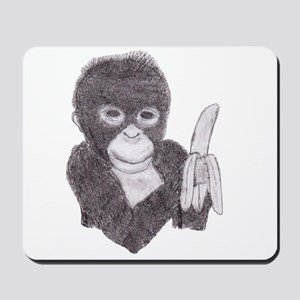 MONKEY WITH BANANA  Mousepad