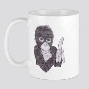 MONKEY WITH BANANA  Mug