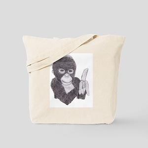 MONKEY WITH BANANA  2 ART WORKS  Tote Bag