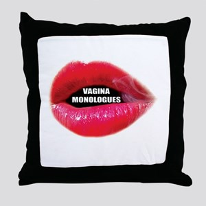 Vagina Monologues Throw Pillow