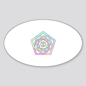 holding Oval Sticker