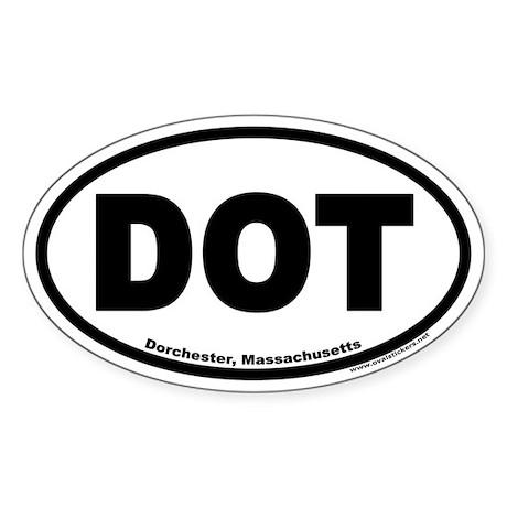 Dorchester, MA DOT Euro Oval Sticker