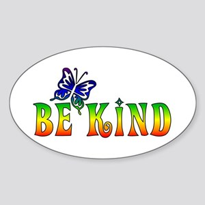 Be Kind Sticker (Oval)