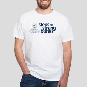Steps for Strong Bones Men's White T-Shirt