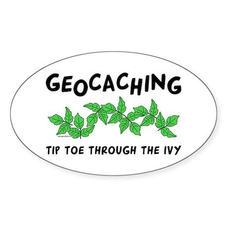 Poison Ivy Oval Sticker