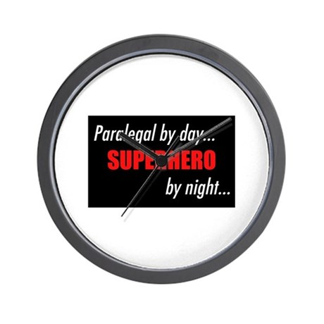 Superhero Paralegal Wall Clock