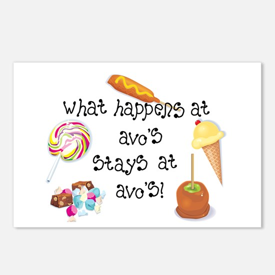 What Happens at Avo's... Postcards (Package of 8)
