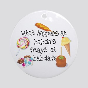 What Happens at Babcia's... Ornament (Round)