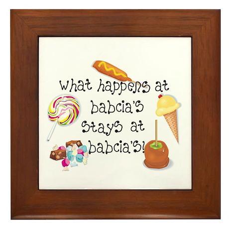 What Happens at Babcia's... Framed Tile