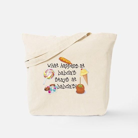What Happens at Babcia's... Tote Bag