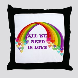 All We Need Is Love Throw Pillow