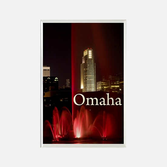 Omaha Rectangle Magnet