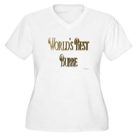 Wold's Best Bubbe Women's Plus Size V-Neck T-Shirt